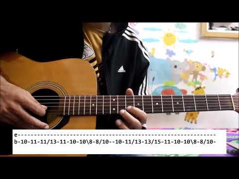 Tune Dil se Diya Jo diya - Guitar Tabs /Leads easy guitar lesson - Hindi basic series