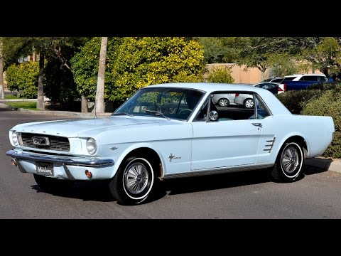 1966 Ford Mustang Baby Blue Drive Video