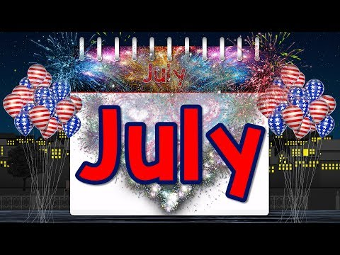 July  Fun Calendar Song for Kids  Month of the Year  Jack Hartmann