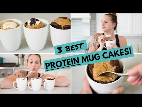 My 3 Best PROTEIN Mug Cakes | Healthy Low Carb Protein Dessert for Weight Loss!