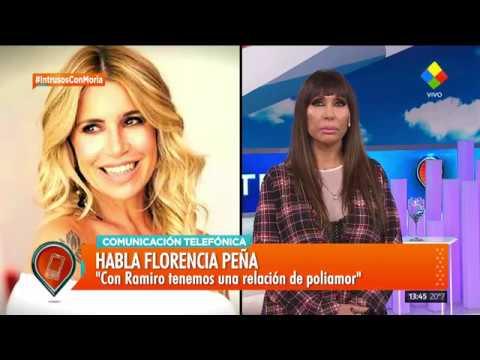 Florencia Peña dijo que con Ramiro tiene una relación de poliamor