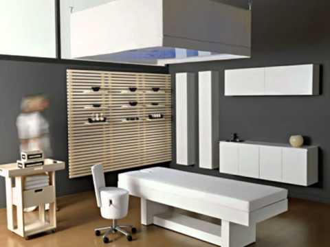 Muebles en melamina para cabinas o spa youtube for Muebles de melamina