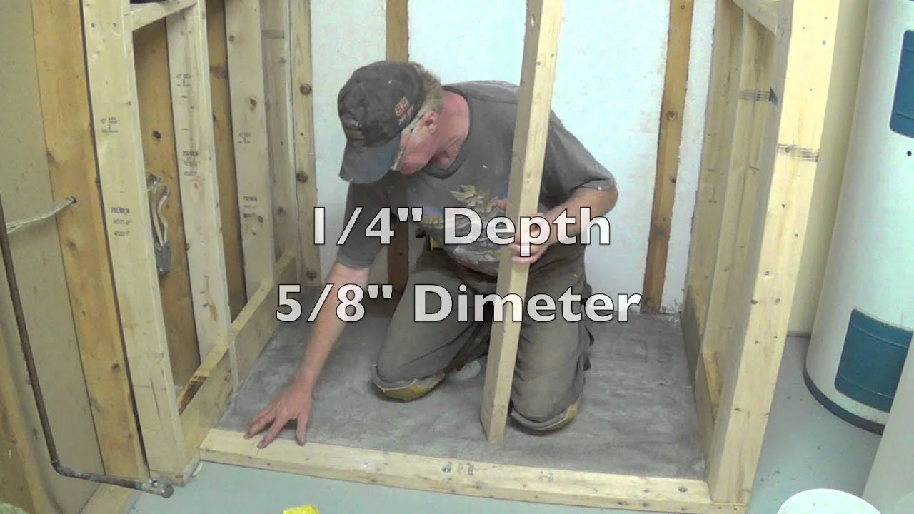 Diy Basement Bathroom Part 2 Installing Shower Pan Youtube