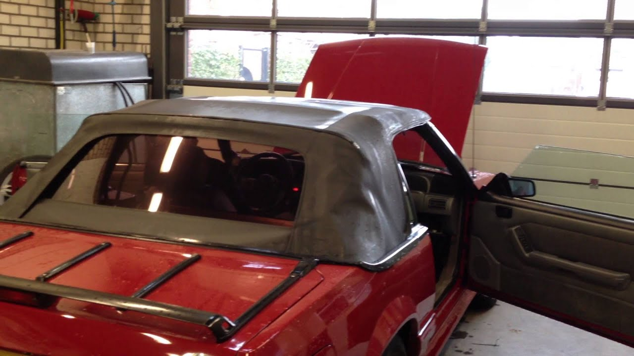 87 Ford Mustang Gt Convertible Top Down Youtube