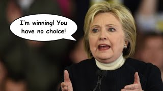 """Hillary Clinton's AWFUL Pitch to Bernie Sanders' Supporters: """"I'm Winning"""""""