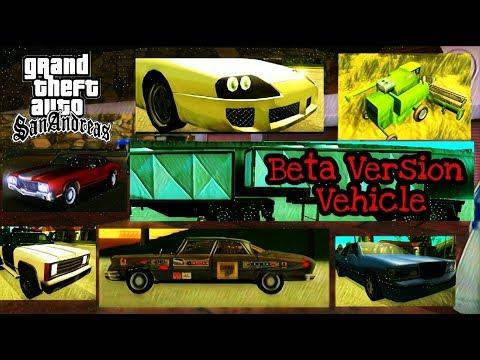 GTA San Andeas Beta Version : Kendaraan yang di hapus (Beta Vehicle) | Part 2