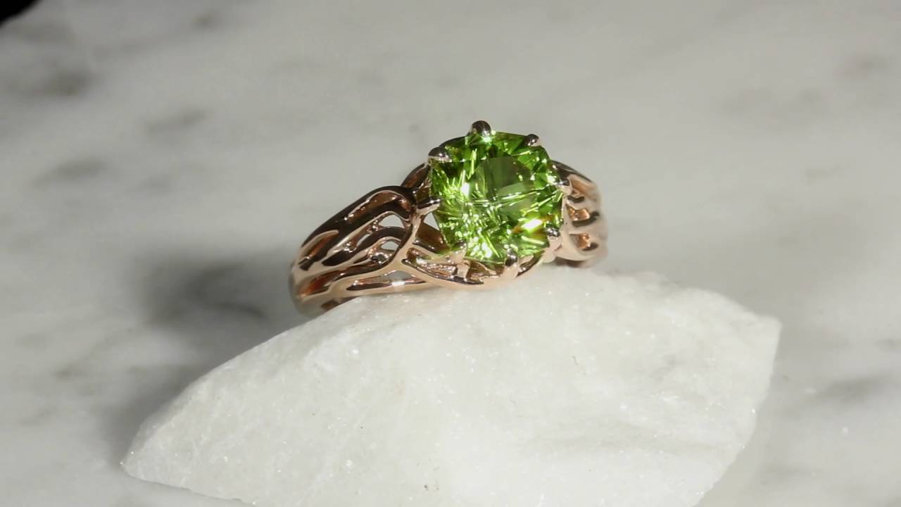 embracing tree branch engagement ring youtube