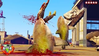 Hikeplays: Shark Attack Gta 5 Mod!! -  Shark-o-matic Gta 5 Mod Gameplay (gta 5 Funny Moments)