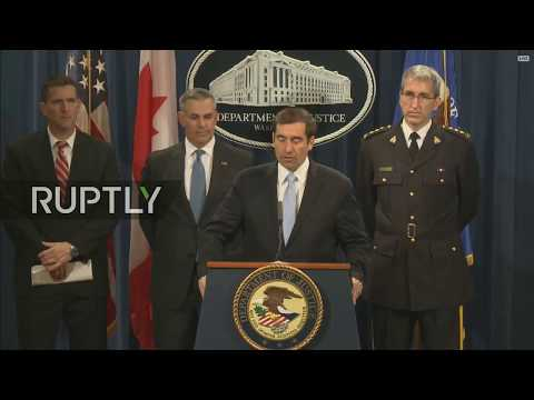 LIVE: US Department of Justice's NSD holds press conference in DC