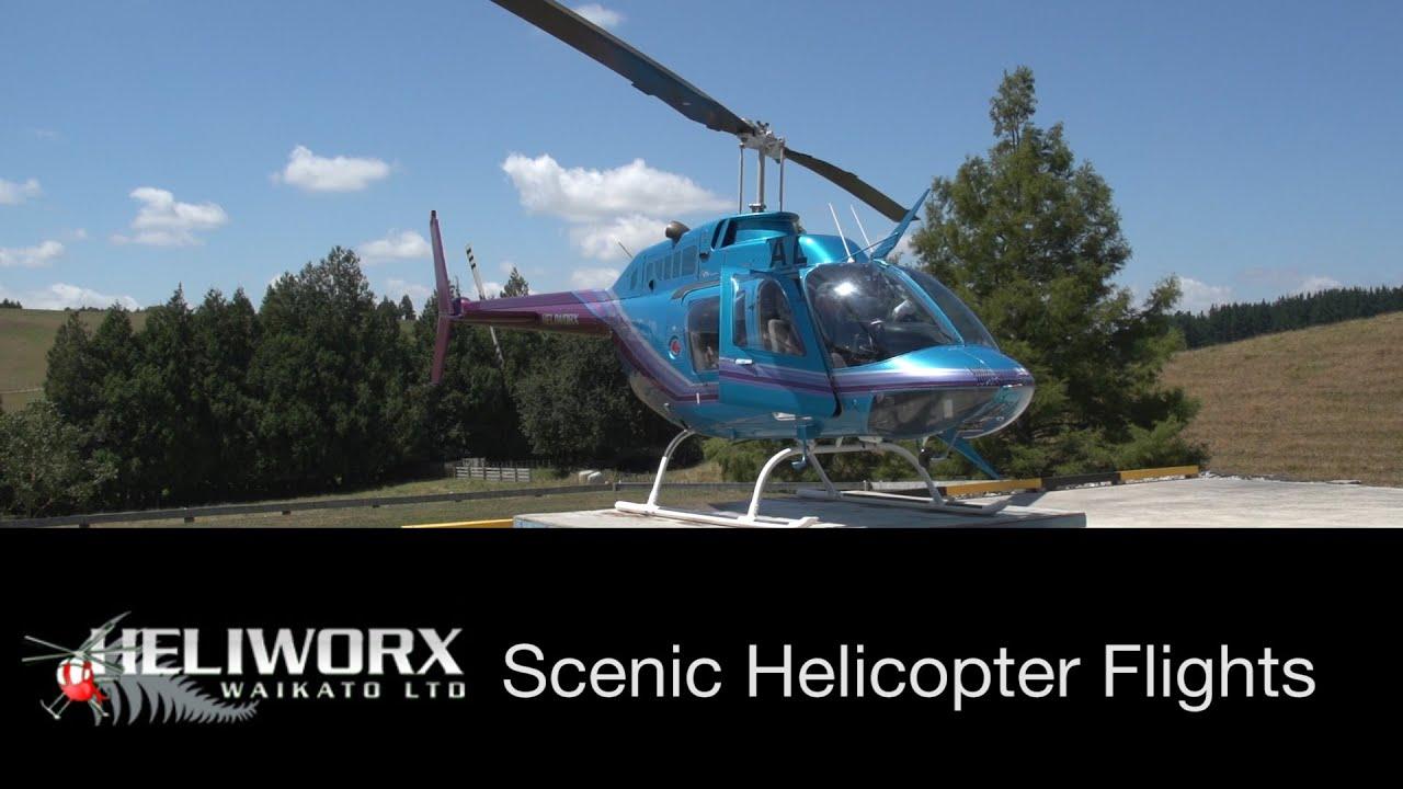 Heliworx Waikato  Scenic Helicopter Flights  YouTube