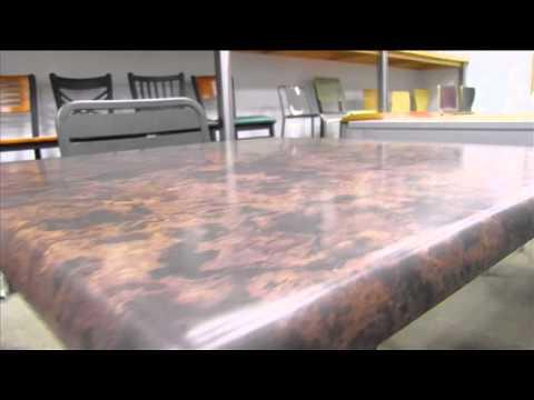 BFM SoHo Composite Outdoor Restaurant Table Top Video