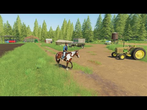 A Day On The Farm Planting Oats | Our Mower Is Missing | Back In My Day 12 | Farming Simulator 19