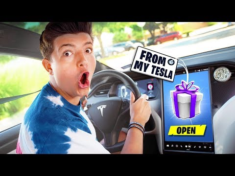 GIFTING Fortnite YouTubers FROM MY CAR!