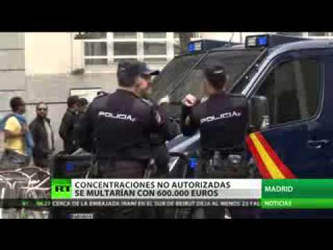 España  600 000 euros sería la multa por protestas no autorizadas frente al Congreso