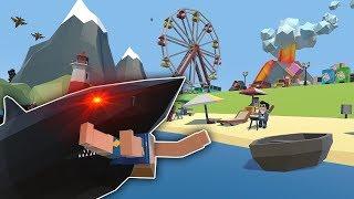MEGALODON SHARK ARMY ATTACKS BEACH! - Tiny Town VR Gameplay - …
