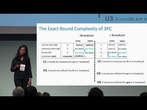 On the Exact Round Complexity of Secure Three Party Computation