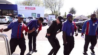 The awesome guys at engen all came out to dance with me and sing happy birthday me. love these guys. was too much fun. off & karaoke even t...