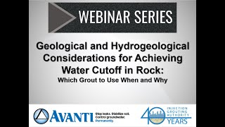 Webinar: Geological and Hydrogeological Considerations for Achieving Water Cutoff in Rock