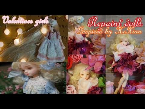 Valentine Girl   Inspired by HeXtian (Bouquet inspired doll Valentines special)repaint dolls