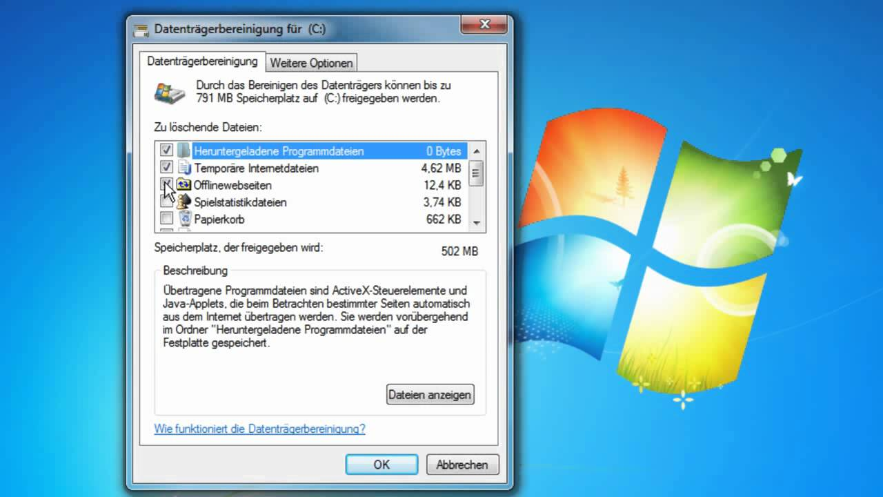 temporäre dateien löschen windows 8