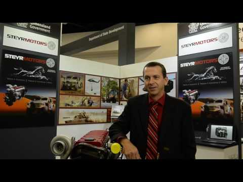 Steyr Motors Australia display at Land Forces 2016