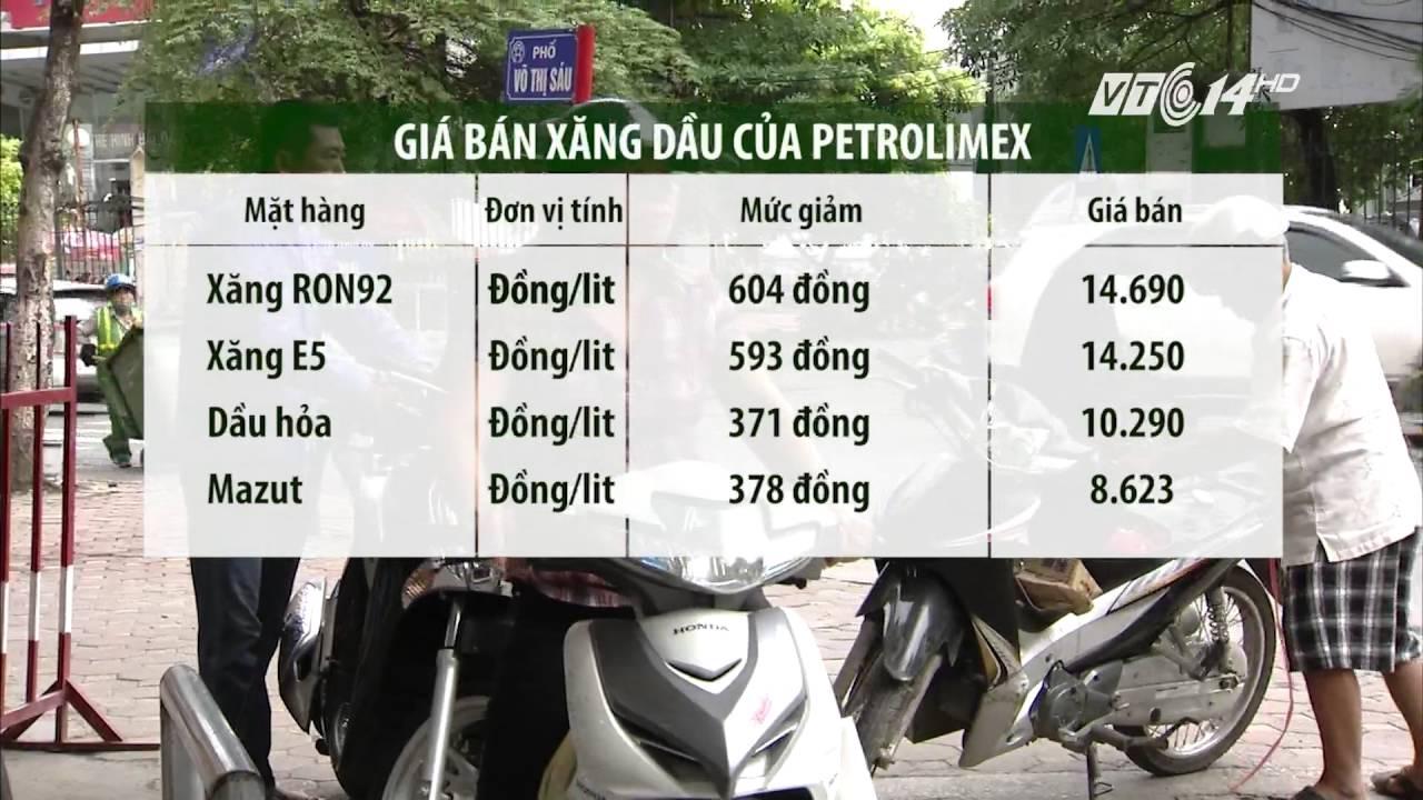 (VTC14)_Giá xăng giảm mạnh từ 15h00 chiều nay