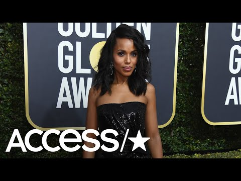Kerry Washington Accepts Her Empowerment Award On The Golden Globes Red Carpet