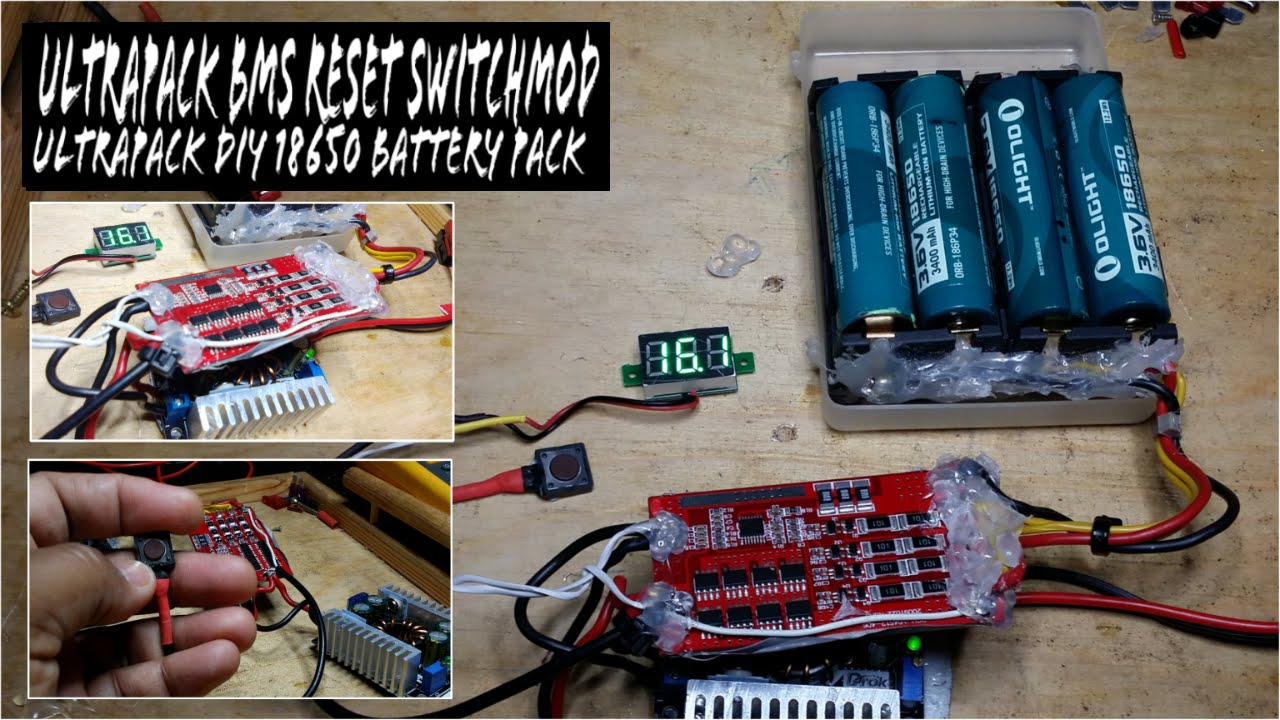 DIY 48wh QRP Battery Pack for FT-817ND UltraPack BMS Reset Switch Mod
