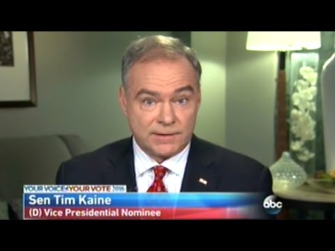 Senator Tim Kaine Loses ALL Credibility TRYING To Defend Hillary Clinton!