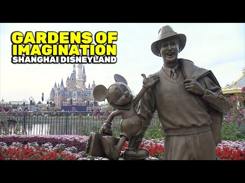 Gardens of Imagination overview at Shanghai Disneyland