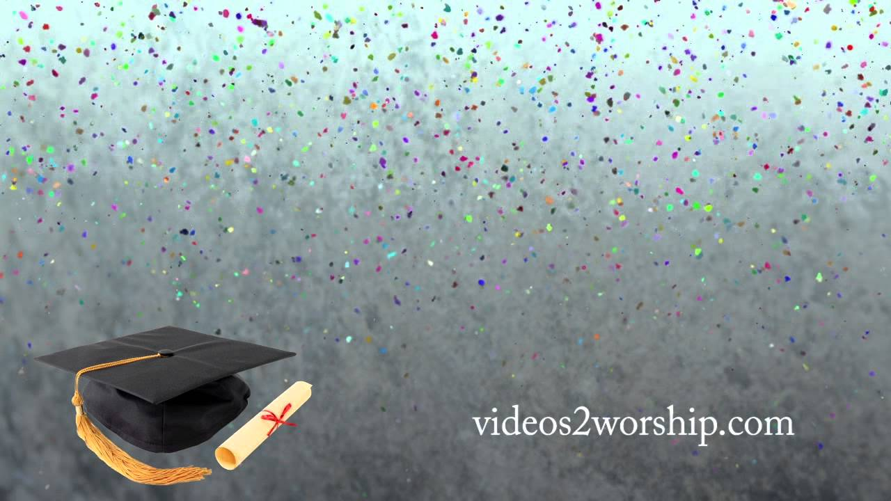 graduation cap and scroll motion background youtube