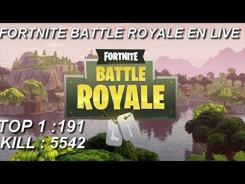 [FR/PC/LIVE] Fortnite  en solo 191 wins!