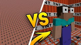 10,000 TNT vs NOOB W MINECRAFT!
