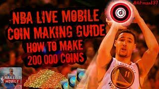 NBA Live Mobile Money Making Guide!Make 200,000 Coins Easy!
