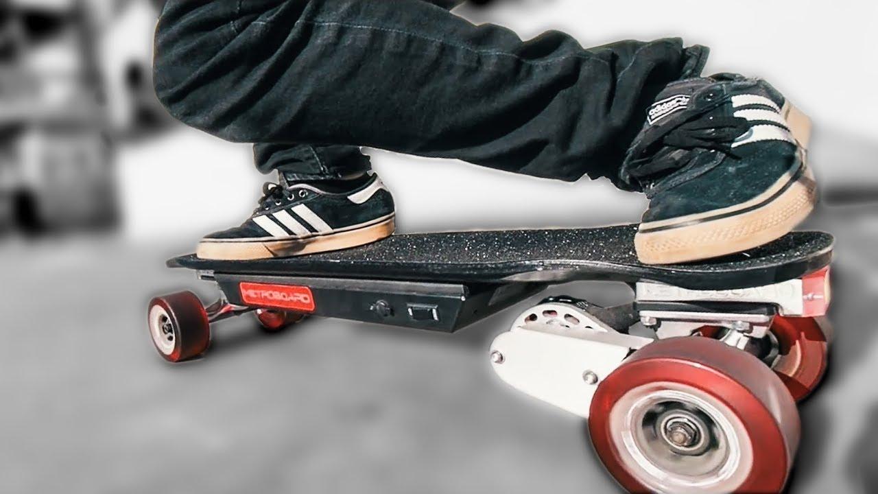 This INSANE Mini Electric Skateboard needs NO KICKTAIL  YouTube