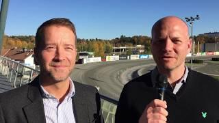 Markus Myron välkomnar Anders Malmrot till Solvalla