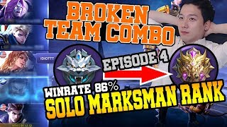 [EP4] Picked Claude for 3 Marksman Combo in Solo Rank 17hours to be Mythic 86%WRㅣMobile Legends