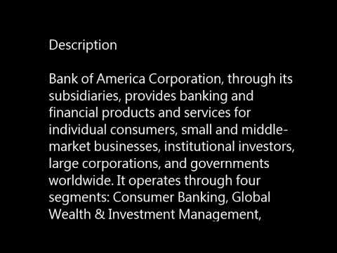 BAC - Bank of America Corp. buy or sell? basic profile