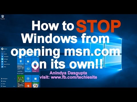 How to STOP Windows 10 from Opening Bing...