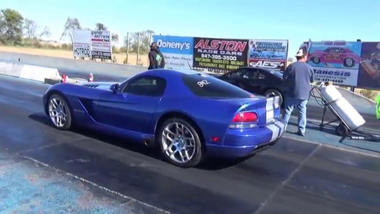 Gen 3 Stock Dodge Viper Srt 10 1 4 Mile Pass Youtube