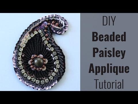 DIY Beaded Paisley Applique [Free Patterns!]