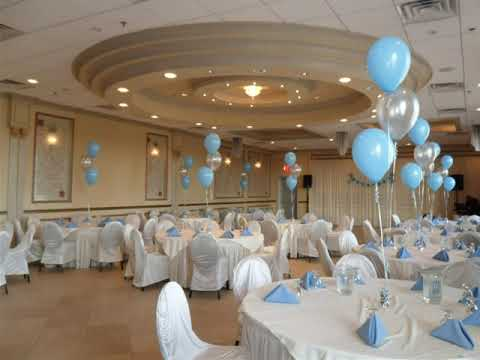 Party 26 Boy Baptism Party Balloon Decorations
