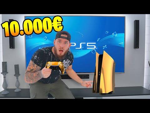 ich KAUFE eine 10.000€ VOLLGOLD Playstation 5!