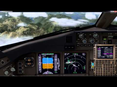 PMDG 777 P3D v2.5: descent planning and arrival