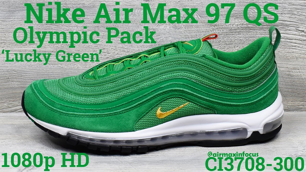 Nike Air Max 97 Qs Olympic Pack Lucky Green Ci3708 300 2019 An