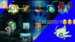 Poke land legends free gems trick +(×7)advanced pull getting celebi&more