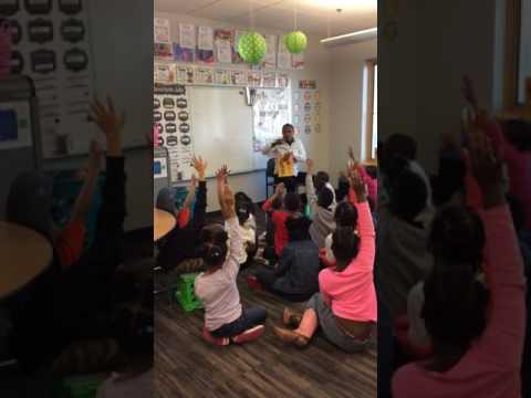 Alvin Irby Reads Gross Greg to First Grade Class