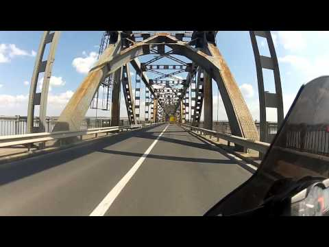 Crossing the Danube from Romania to Bulgaria