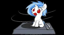 DJ Pon-3 spins while I play fitting music