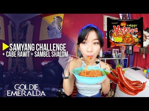 Samyang Challenge + Cabe Rawit + Sambel Shalom | Goldie Emeralda
